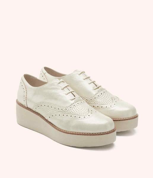 Oxford style platform shoe with laces - Grace