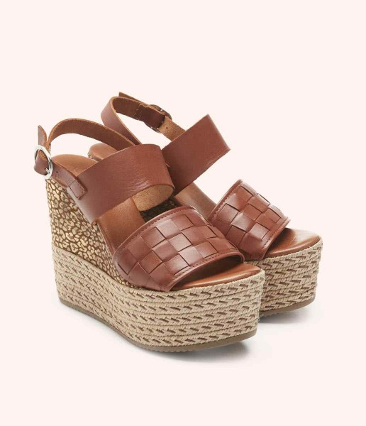 Wedge with side buckle fastening - Diana