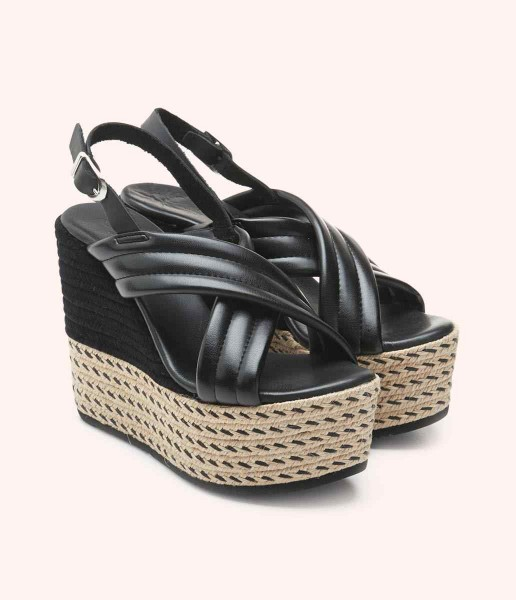 Wedge cross straps with side buckle fastening - Dolly