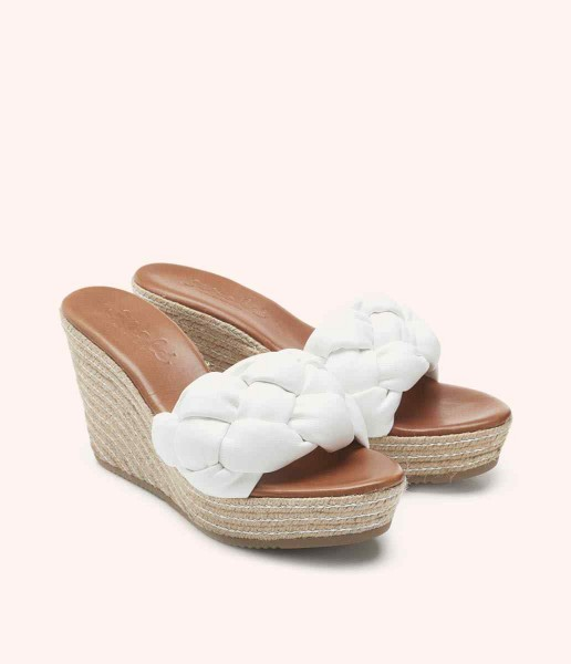 Wedge with braided padded strap - Barbra