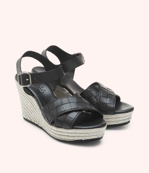 Wedge with cris-cross straps - Édith