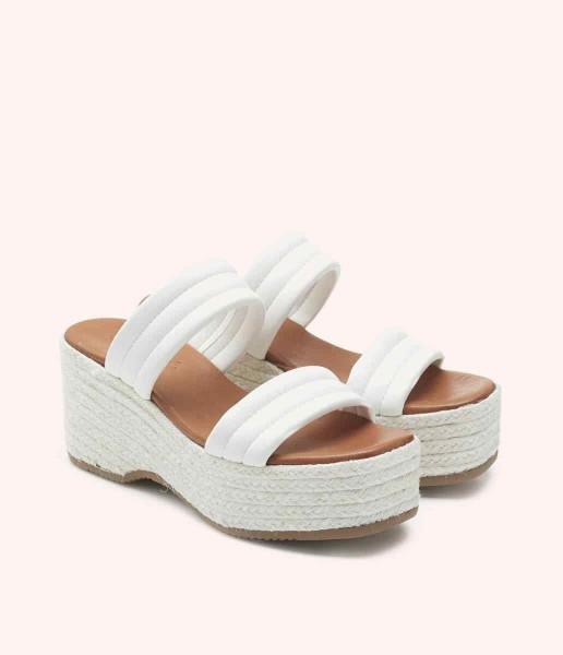 Sandalia plataforma con tiras acolchadas - Dora