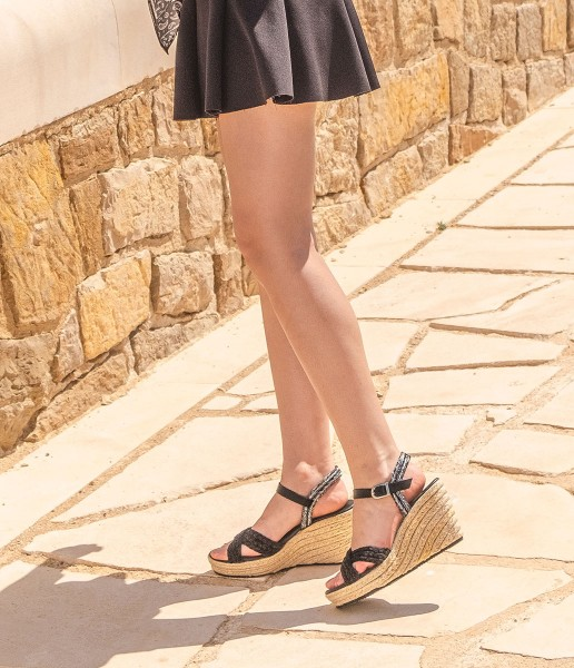 Wedge cross straps with buckle closure - Rosario