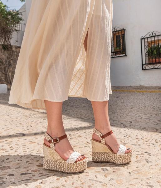 Padded wedge with braided heel - Billie