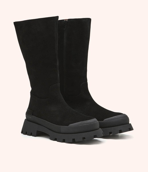 Track sole boot with zip fastening - Charlotte