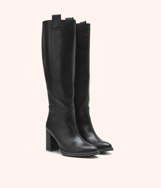 High leg boot with zip fastening - Valeria